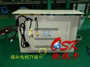 19寸高清视角车载播放器 车载电视TV 两路音视频输入 VGA