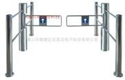不锈钢护栏摆闸,商场入口安全通道圆柱围栏摆闸,感应自动闸门